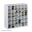 Safco Wood 36 Compartment Mail Sorter 7766GR (Gray) ES3478