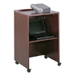 Safco Lectern Base/Media Cart 8917MH (Mahogany) ES3488