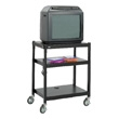 Safco Steel Adjustable Height Cart 8932BL (Black) ES3508