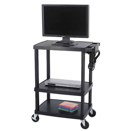 Safco Adjustable Plastic AV/TV Cart 8933BL ES3509