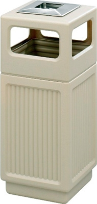 Safco Canmeleon Recessed Panel Side Opening with Urn Receptacle, 15 Gallon 9474TN