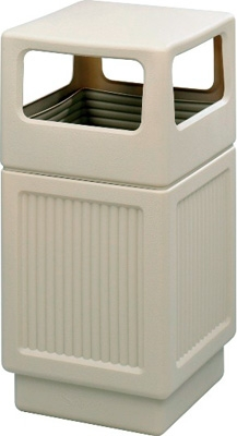 Safco Canmeleon Recessed Panel Side Opening Receptacle, 38 Gallon 9476TN