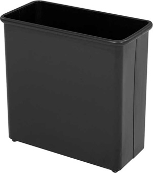 Safco Rectangular Wastebasket, 27.5 Qt. (Qty.3) 9616BL