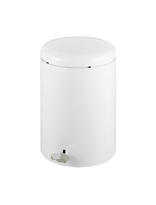 """Safco Round Step-On Receptacle, 4-Gallon 9681WH"" ES3575"