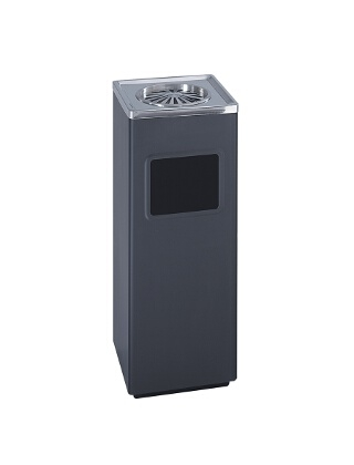 Safco Square Ash And Trash Receptacle 9696BL ES3582