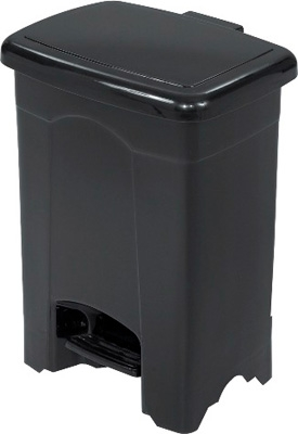 Safco Plastic Step-On Receptacle, 4 Gallon 9710BL