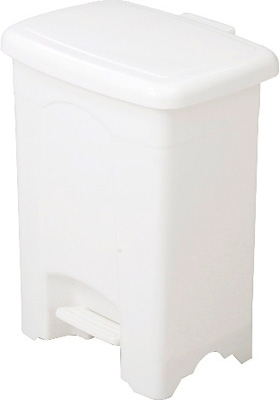 Safco Plastic Step-On Receptacle, 4 Gallon 9710WH