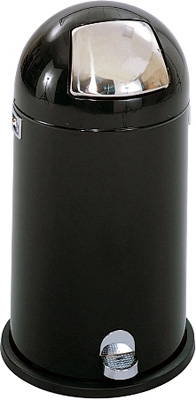 Safco Dome Step-On Receptacle, 9 Gallon 9720BL