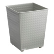 Safco Checks Wastebasket (Qty.3) 9733GR (Gray) ES3601