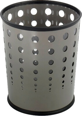 Safco Bubble Wastebasket (Qty.3) 9740GR ES3604
