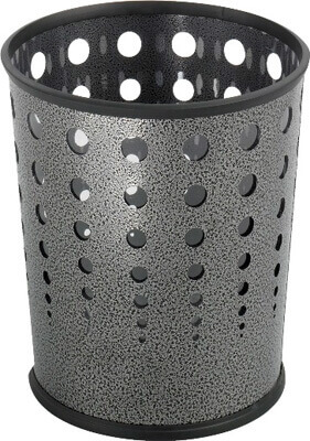 Safco Bubble Wastebasket (Qty.3) 9740NC ES3605