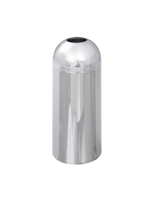 Safco Reflections Open Top Dome Receptacle, Chrome 9875