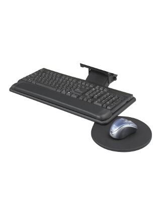 Safco Adjustable Keyboard Platform With Swivel Mouse Tray ES3631 2135BL