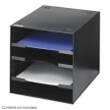 Safco Steel Desktop Organizer, 4 Compartment 3112BL ES3649