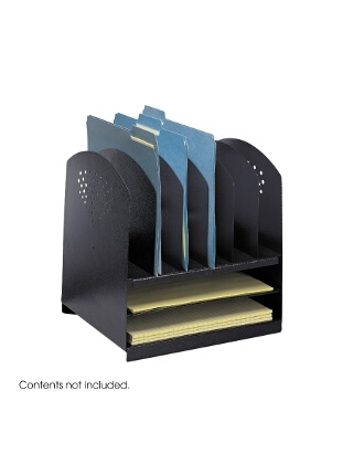 Safco Combination Desk Rack 6 Upright and 2 Horizontal ES3659 3166BL