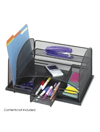 Safco Onyx Organizer With 3 Drawers ES3677