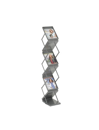 Safco Ready-Set-Go! Double Sided Folding Literature Display ES3720 4132GR