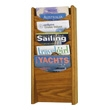 Safco 5-Pocket Wood Magazine Rack 4330MO (Medium Oak) ES3738