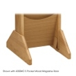 Safco Wood Magazine Rack Base 4332MO (Medium Oak) ES3743