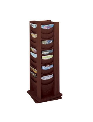 Safco 48-Pocket Solid Wood Rotating Display 4335MH (Mahogany)
