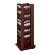 Safco 48-Pocket Solid Wood Rotating Display 4335MH (Mahogany) ES3747