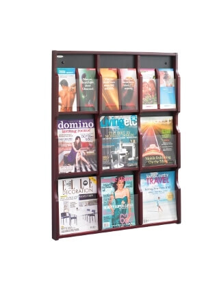 Safco Expose 9 Magazine 18 Pamphlet Display ES3762 5702MH