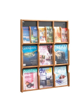 Safco Expose 9 Magazine 18 Pamphlet Display ES3763 5702MO