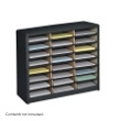 Safco Value Sorter Literature Organizer, 24 Compartment 7111BL ES3775