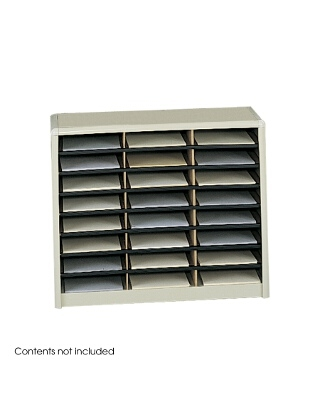 Safco Value Sorter Literature Organizer, 24 Compartment ES3778 7111SA