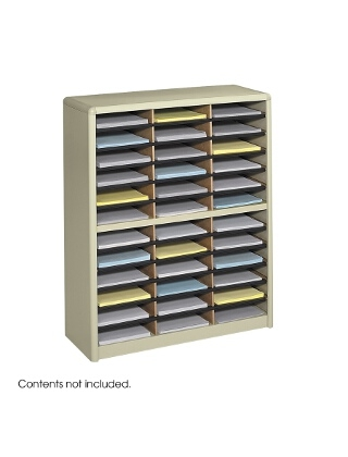 Safco Value Sorter Literature Organizer, 36 Compartment ES3782 7121SA