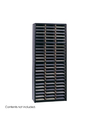 Safco Value Sorter Literature Organizer, 72 Compartment ES3784 7131BL