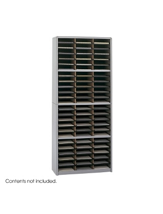 Safco Value Sorter Literature Organizer, 72 Compartment ES3785 7131GR