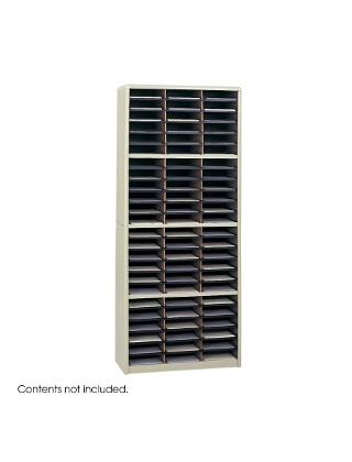 Safco Value Sorter Literature Organizer, 72 Compartment ES3787 7131SA