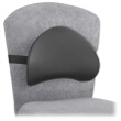 Safco Memory Foam Low Profile Backrest (Qty.5) 7155BL ES3794