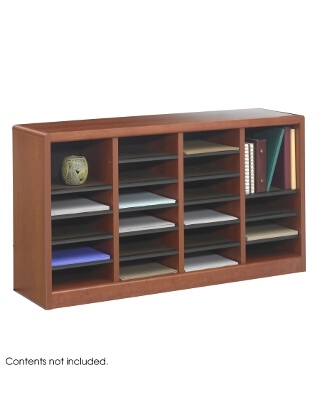 Safco E-Z Stor Wood Literature Organizer, 24 Compartments ES3809 9311CY