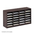 Safco E-Z Stor Wood Literature Organizer, 24 Compartments 9311MH ES3811