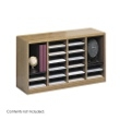 Safco E-Z Stor Wood Literature Organizer, 24 Compartments 9311MO ES3812