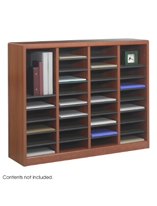 Safco E-Z Stor Wood Literature Organizer, 36 Compartments ES3813