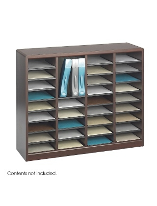 Safco E-Z Stor Wood Literature Organizer, 36 Compartments ES3815