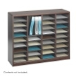 Safco E-Z Stor Wood Literature Organizer, 36 Compartments 9321MH ES3815