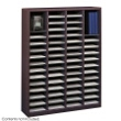 Safco E-Z Stor Wood Literature Organizer, 60 Compartments 9331MH ES3819