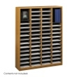 Safco E-Z Stor Wood Literature Organizer, 60 Compartments 9331MO ES3820
