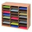 Safco Wood/Corrugated Literature Organizer, 24 Compartment 9402MO (Medium Oak) ES3828