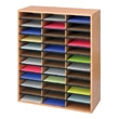 Safco Wood/Corrugated Literature Organizer, 36 Compartment 9403MO (Medium Oak) ES3829