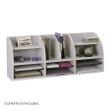 Safco Radius Front 12 Compartment Desktop Organizer 9411GR (Gray) ES3830