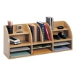 Safco Radius Front 12 Compartment Desktop Organizer 9411MO (Medium Oak) ES3831