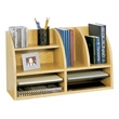 Safco Radius Front 8 Compartment Desktop Organizer 9417MO (Medium Oak) ES3833