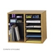Safco Wood Adjustable Literature Organizer - 12 Compartment 9420MO (Medium Oak) ES3837