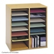 Safco Wood Adjustable Literature Organizer, 16 Compartment 9422MO (Medium Oak) ES3839