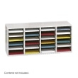 Safco Wood Adjustable Literature Organizer, 24 Compartment 9423GR (Gray) ES3840